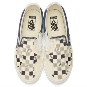 VANS off-white & black bricolage Classic Sneakers